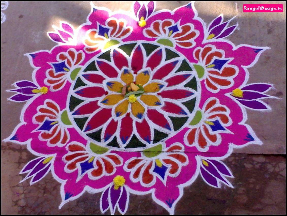 20 Unique And Beautiful Colour Rangoli Designs For Diwali