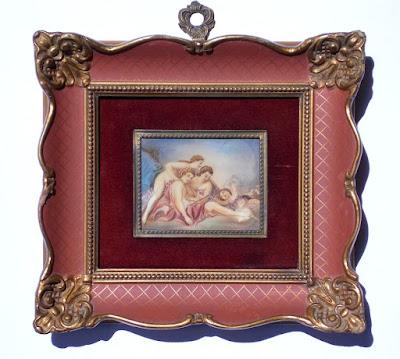 Miniatura su celluloide - arte - dipinti - annunci