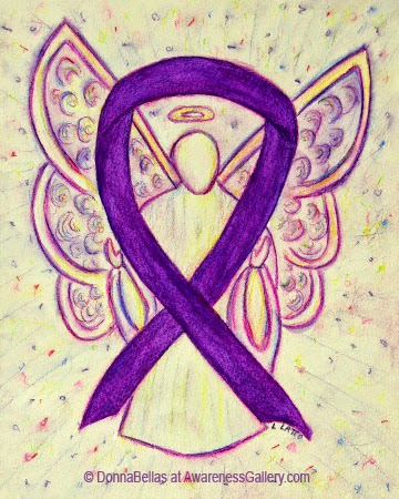 Purple Guardian Angel Awareness Ribbon Image Picture