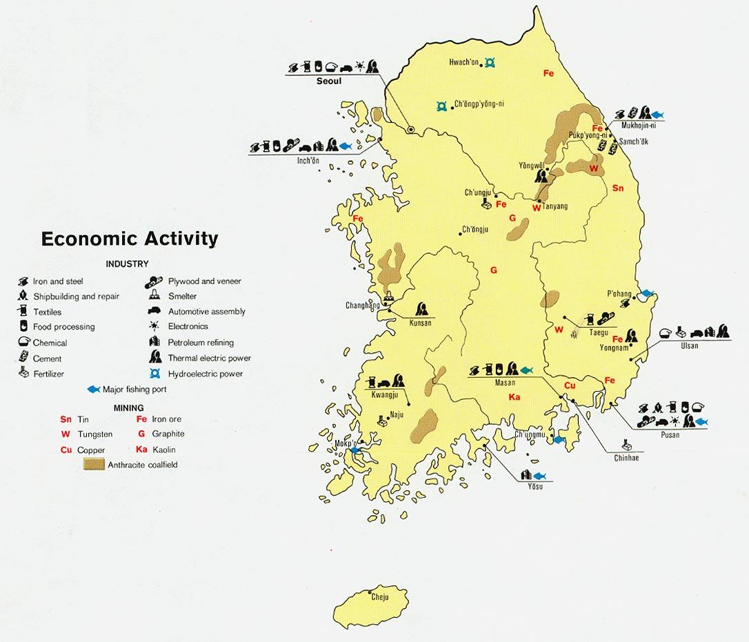 Coreia do Sul | Mapas Geográficos da Coreia do Sul