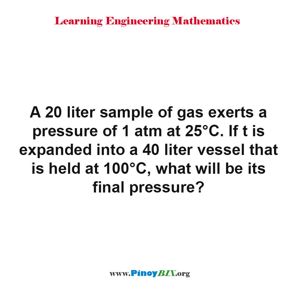 what will be the gas final pressure?
