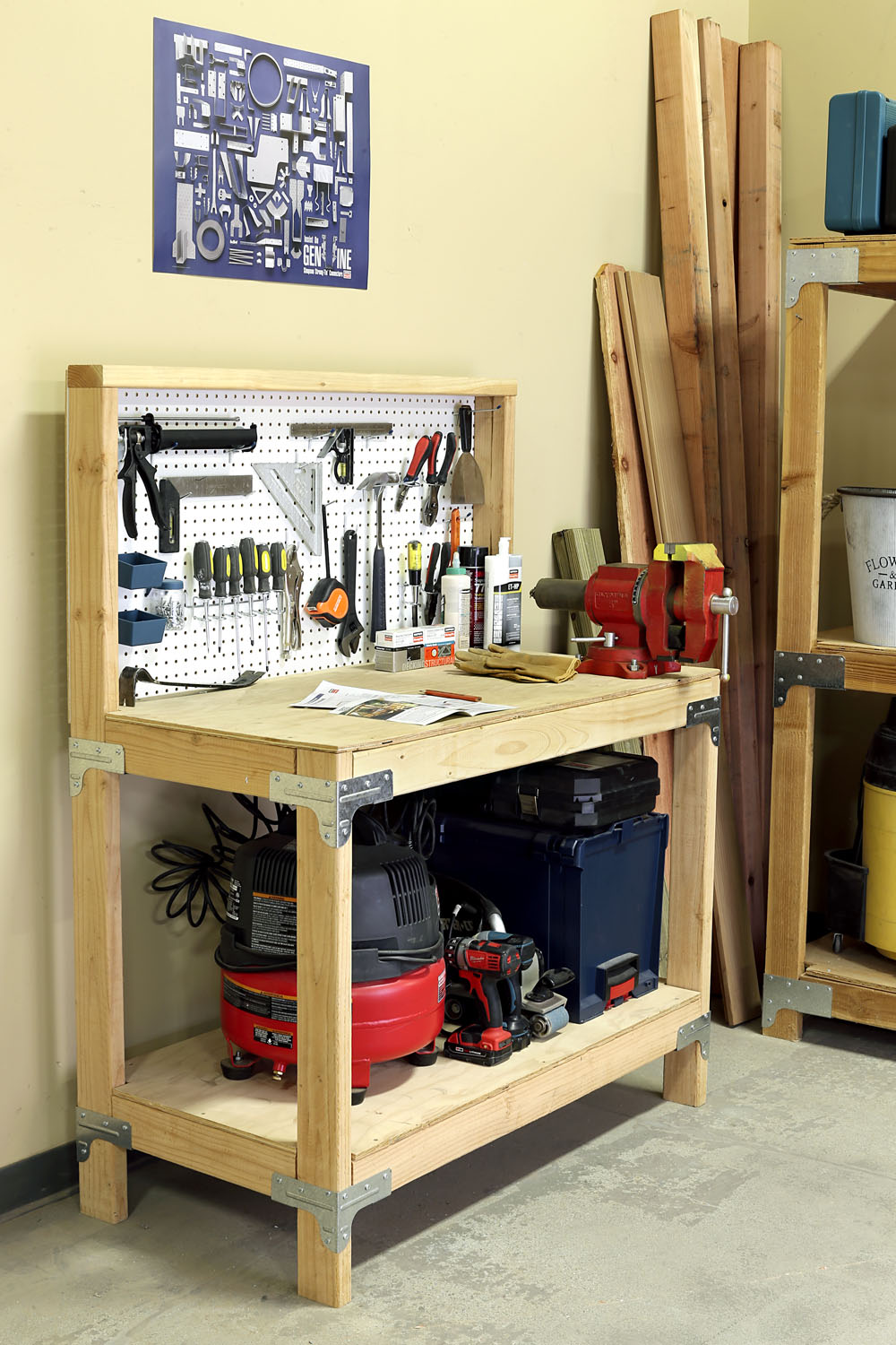 Father S Day Workbench Shelving Kit Giveaway Pneumatic Addict