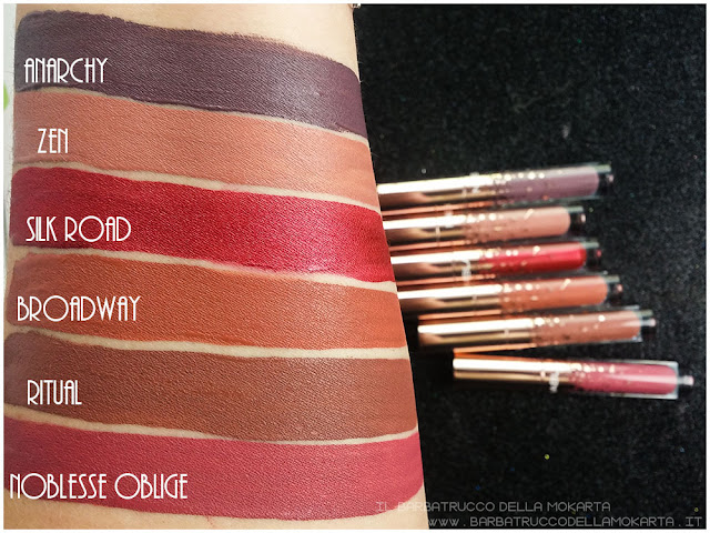 Holiday Collection dreamy liquid lipstick nabla cosmetics SWATCHES