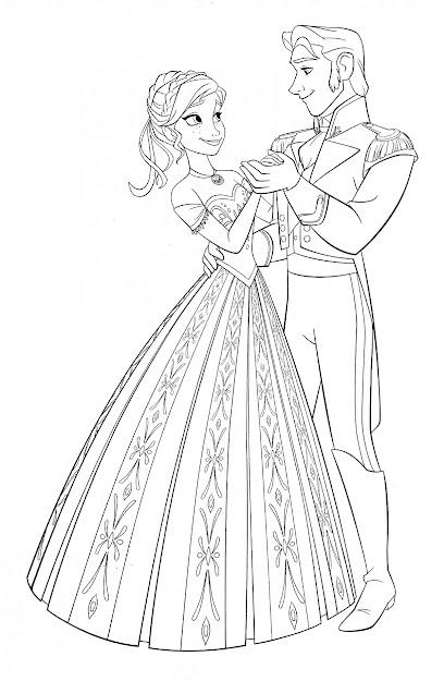 Frozen Coloring Pages Elsa And Hans