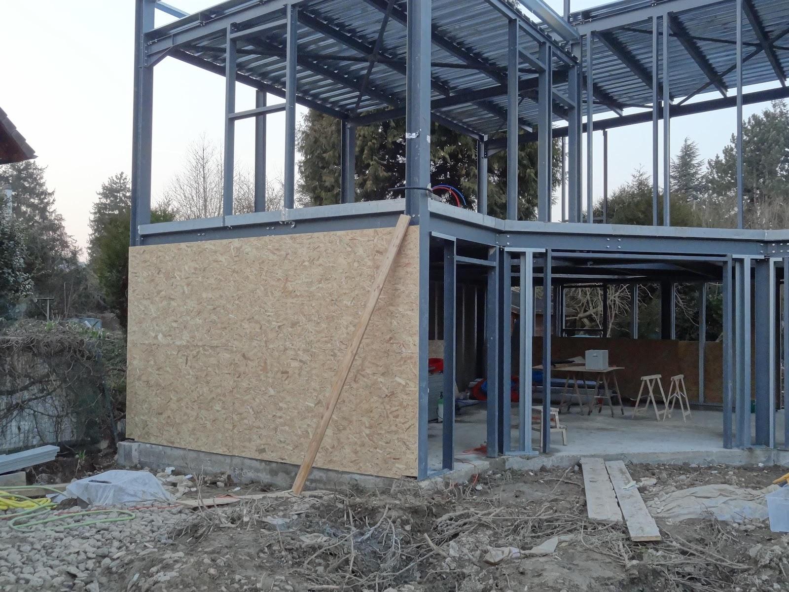 construction maison ossature m tallique les murs. Black Bedroom Furniture Sets. Home Design Ideas
