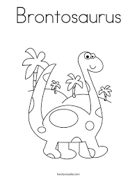 Baby Brachiosaurus Coloring Pages With Name