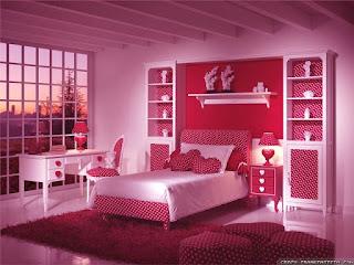 Model Desain Kamar Tidur  Anak Cat Warna Pink