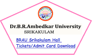 BRAU Srikakulam Hall Tickets 2020