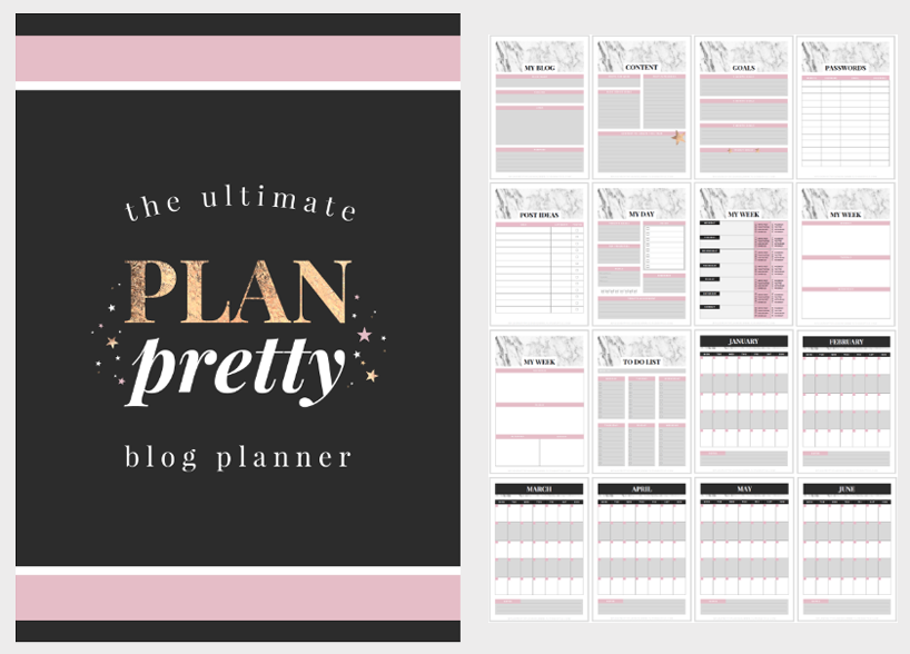 Plan Pretty blog planner printables