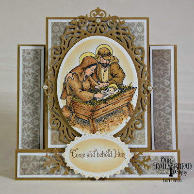 Our Daily Bread Designs Stamp Set: Our Savior's Birth, Our Daily Bread Designs Paper Collection: Christmas 2013, Our Daily Bread Designs Custom Dies: Ornate Ovals, Ovals, Lovely Leaves