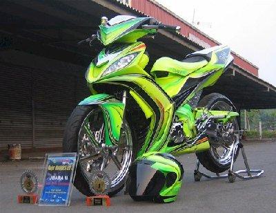 Modif Motor Jupiter MX Hijau