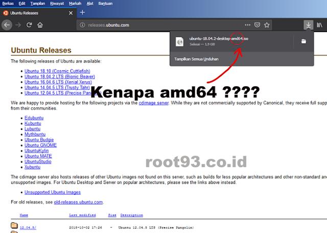 Kenapa File ISO Ubuntu Diberi Label amd64 ?