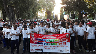 Gerak jalan sehat KPU Kota Denpasar