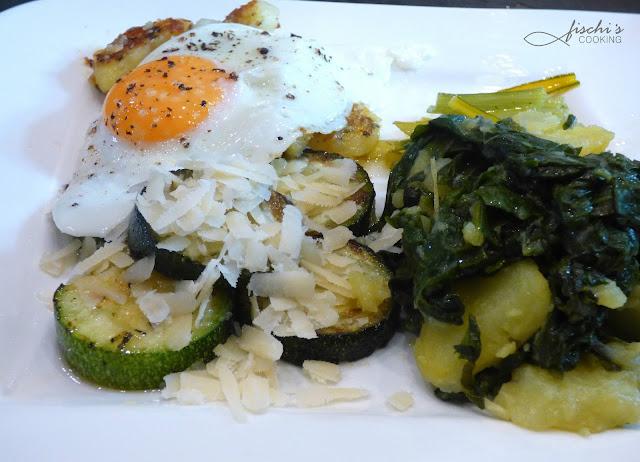 fischiscooking, mangold, erdäpfel, zucchini