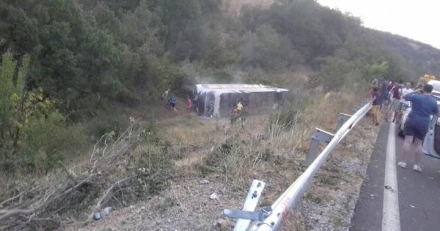 Bus Unfall in Mazedonien: Über 20 Verletzte, Frau getötet