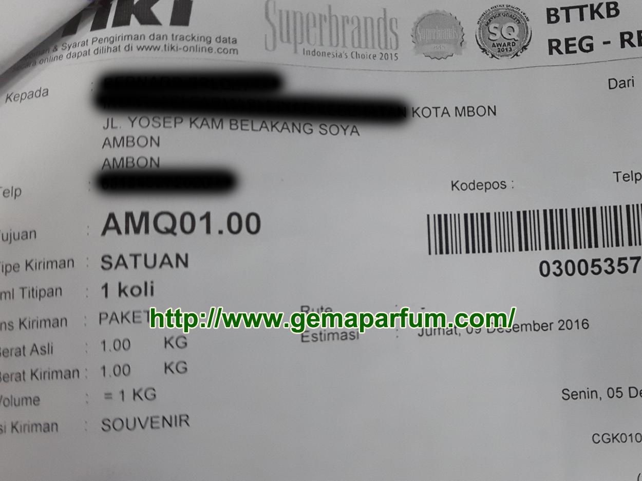 Pengiriman Parfum ke Ambon