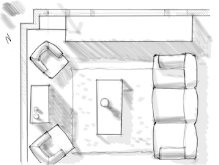 Shadows on How To Draw Shadows In A Floor Plan