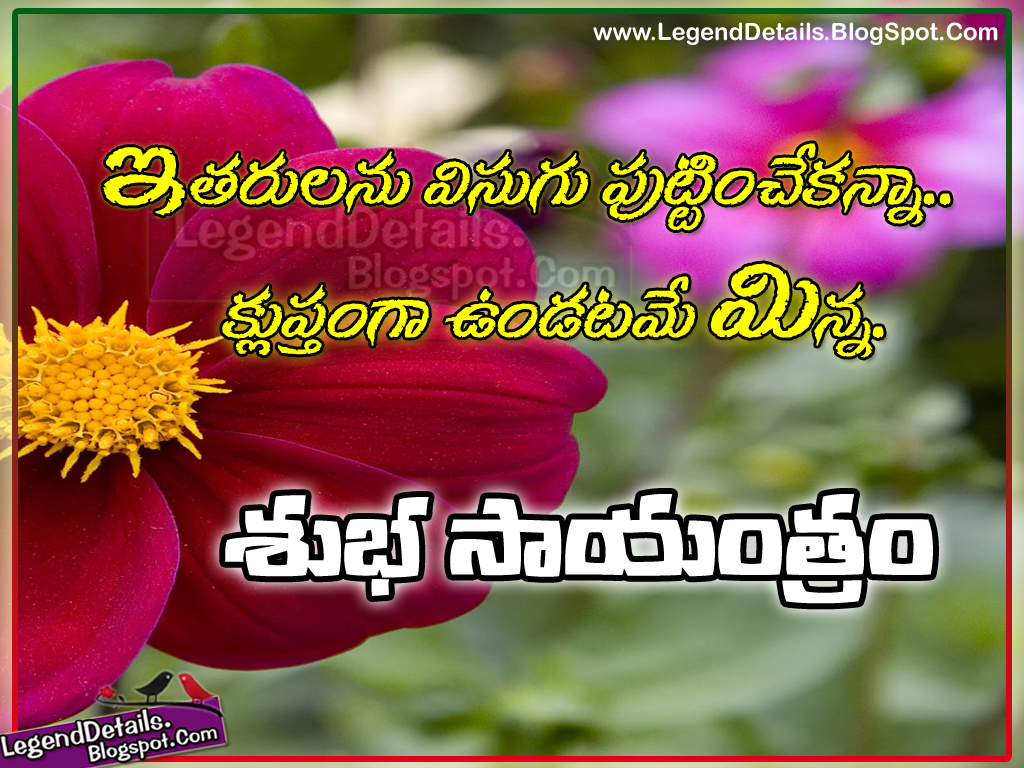 Telugu Good Evening Messages And Quotes With Inspirational Lines