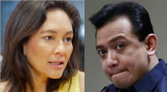 Image result for images of antonio trillanes and risa hontiveros