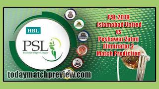 Peshawar vs Islamabad Eliminator 2 PSL 2019 Today Match Prediction Who will win Islamabad vs Peshawar