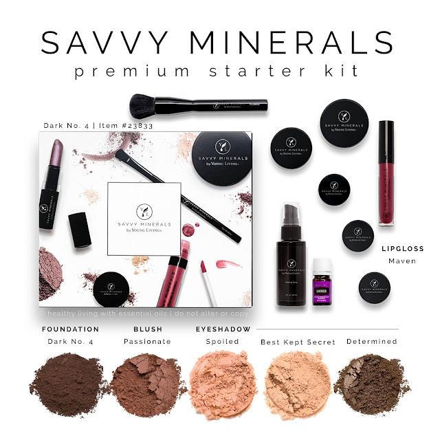 Savvy Mineral Makeup Premium Starter Kit: Dark 4