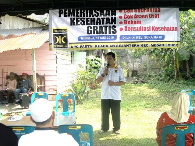 Berkhidmat Untuk Rakyat, PKS Medan Johor Gelar Pemeriksaan Kesehatan Gratis