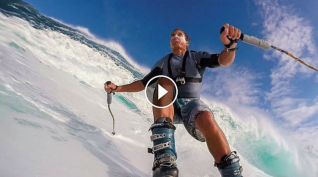 GoPro Chuck Patterson Skis Giant Wave at Jaws