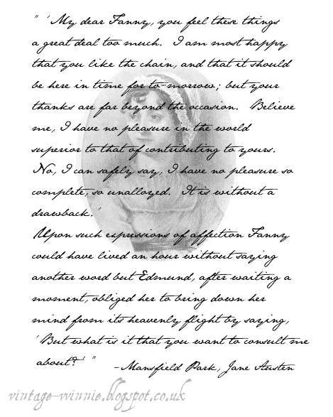 """Mansfield Park Quotes: Poems, Quotes And Prose: Excerpt From """"Mansfield Park"""
