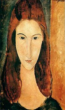 Dipinto di Modigliani raffigurante la moglie Jeanne Hébuterne