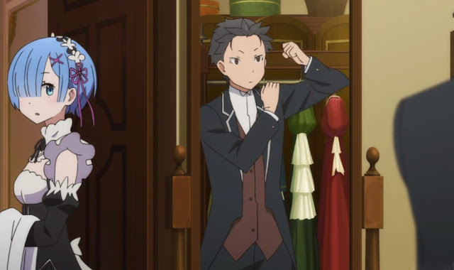 Subaru as a butler.