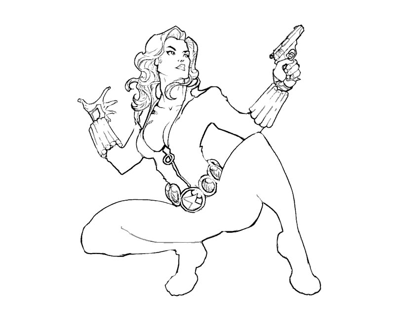 Black widdow free coloring pages for Black widow coloring page