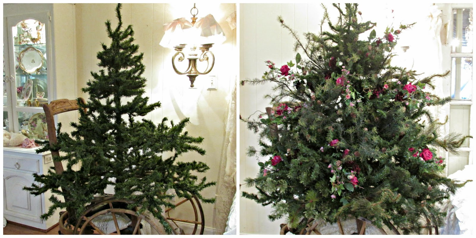 Vintage Artificial Christmas Trees.Penny S Vintage Home How To Make A Short Fat Christmas Tree