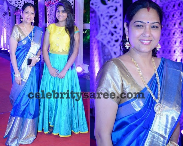 Hema in Royal Blue Silk Saree