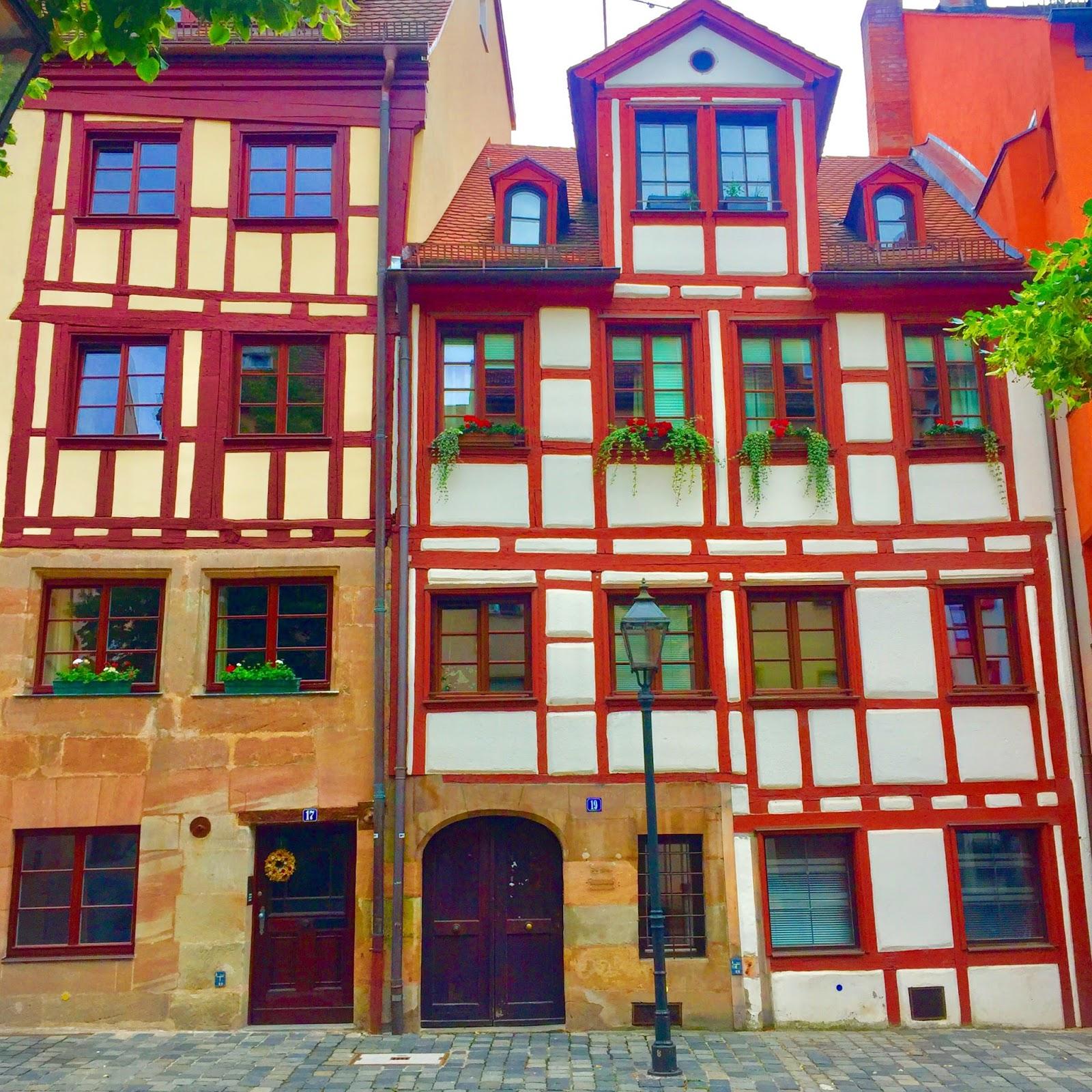 Medieval Architecture in Nuremberg Weißgerbergasse