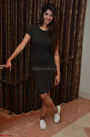 Priya Vadlamani super cute in tight brown dress at Stone Media Films production No 1 movie announcement 037.jpg