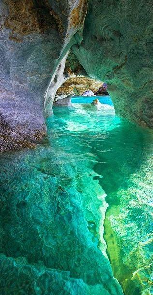Marble cave in Patagonia, Chile