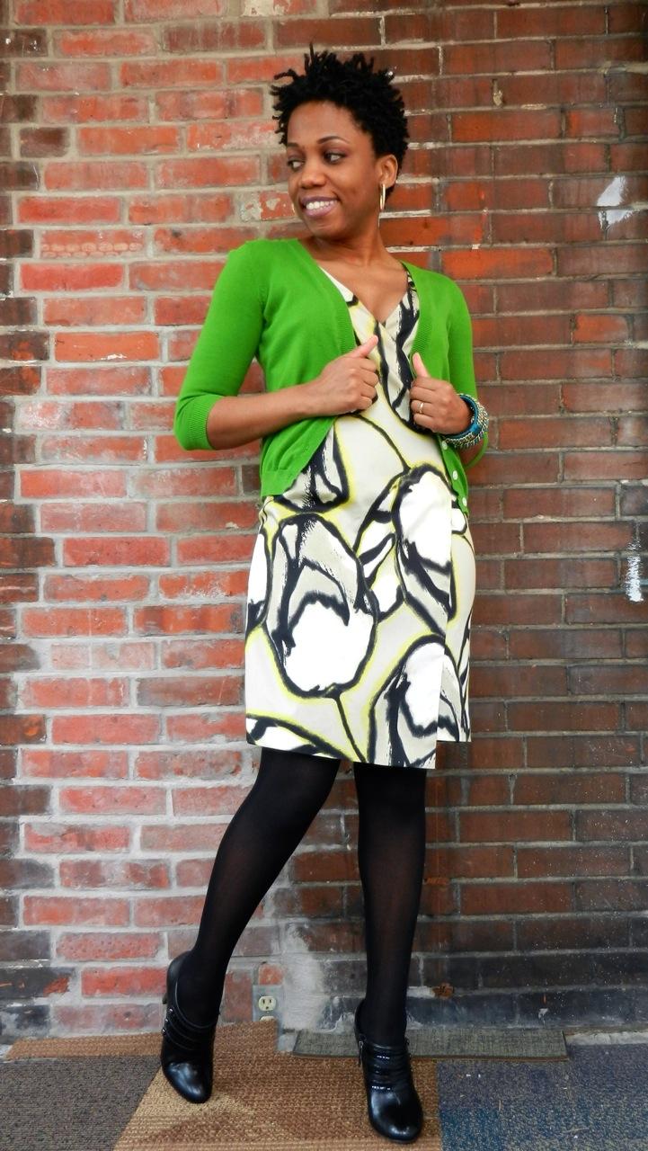 Sping Restyle of Ann Taylor Muse Print Dress