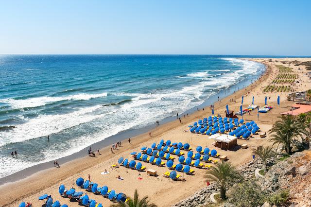 plaża de ingles, playa de ingles, plaża