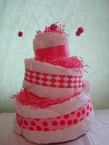 Creations By Karla Pink Twist Diaper Cake
