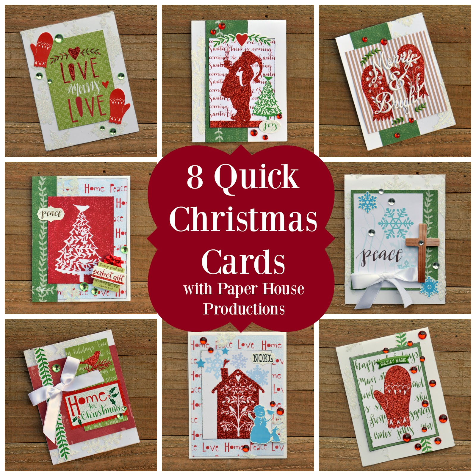 Scrapping with Christine: 8 Quick Christmas Cards with Process Video