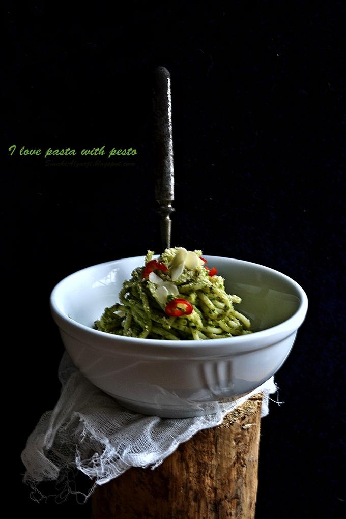 Pesto z rukoli...moja miłość :)