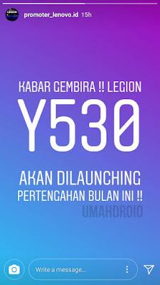 Lenovo Legion terbaru di Indonesia