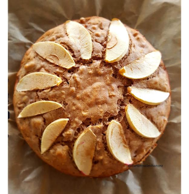 elmalı incirli şekersiz kek