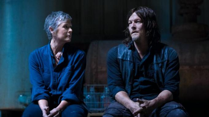 Carol y Daryl en el episodio 9x01 a New Beginning de The Walking Dead
