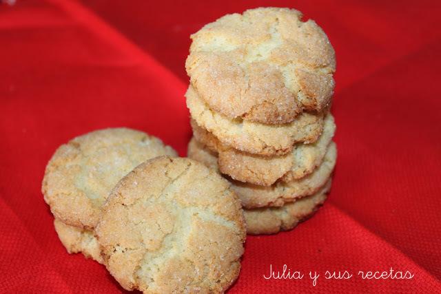 Pastas de almendra crujientes, aptas para celiacos. Julia y sus recetas