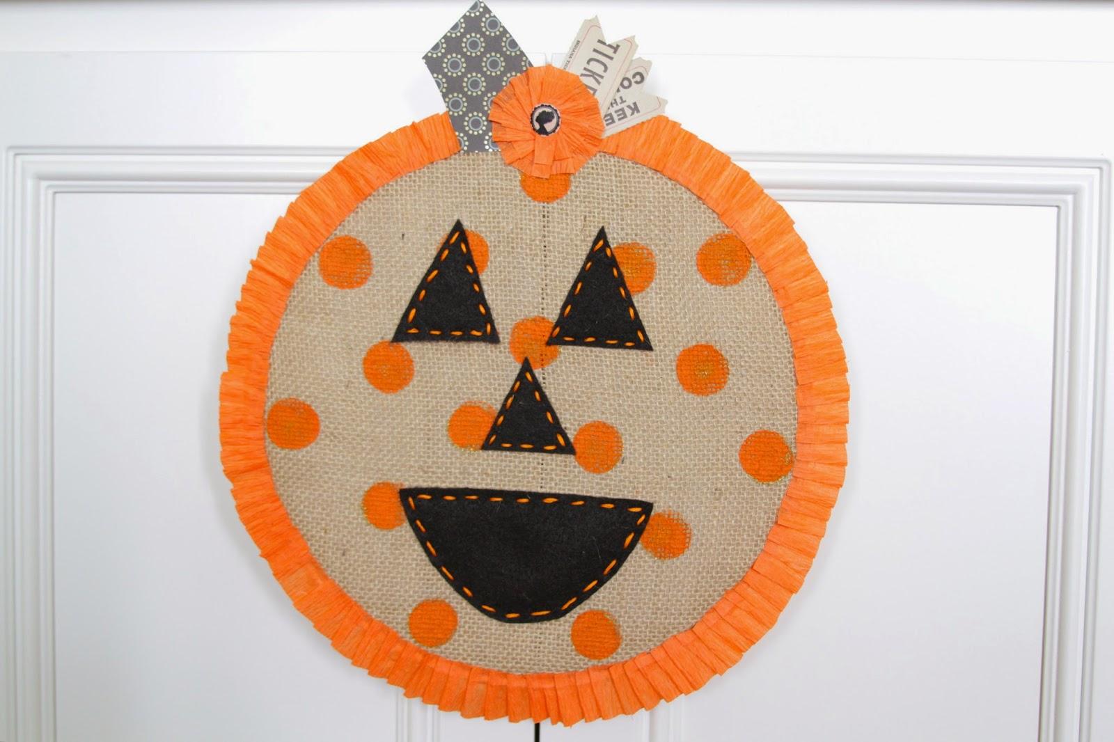 Nesting In The Bluegrass Polka Dot Pumpkin