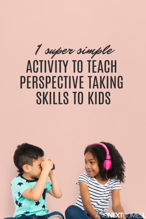 Looking for perspective taking activities for autism? Try this 1 activity to teaching perspective taking skills to kids