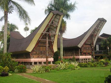 rumah adat tongkonan suku toraja rumah adat sulawesi selatan