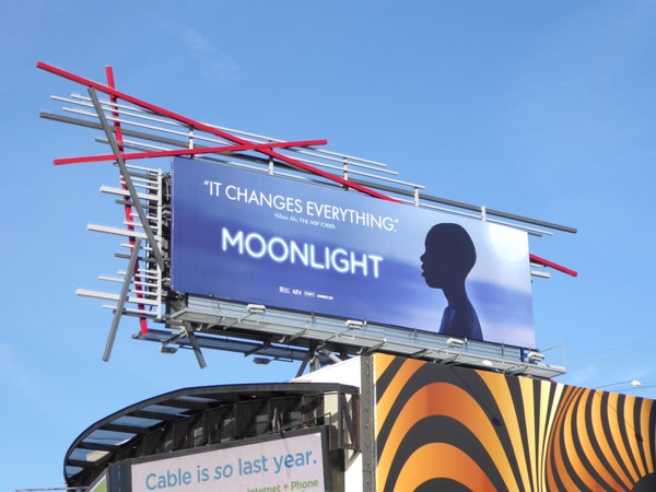 Moonlight Oscar nomination billboard