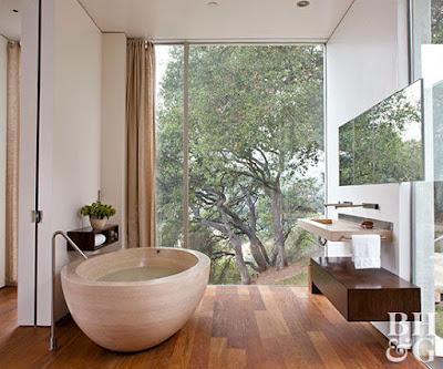 พื้นห้องน้ำ Modern bathroom